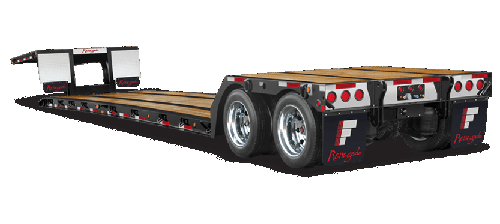 Stretch RGN or Removable Gooseneck Trailers (Great for LTL -partials- and FTL -full truckload-)